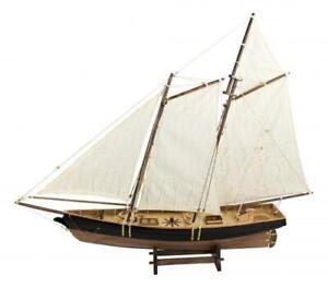 Segel-Yacht, Holz mit Stoffsegel, L: 67cm, H: 57cm