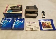 POLAROID CAMER with original box and film vintage collectible very cool