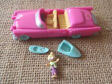 Vintage Polly Pocket Bluebird 1995 Pool Party On the Go Car Complete T1