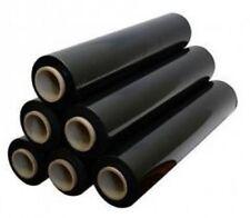 6 x Film étirable Noir 300 mètres Bobine 45 cm cellophane palette carton