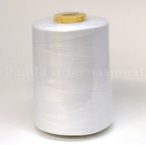 All Purpose Polyester Sewing Thread, 10,000 yards, Tex 27, White