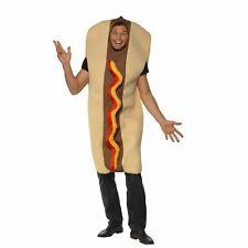 Disfraz De Perro Caliente gigante Adultos para Hombre Stag Do Novedad Comida Fiesta Vestido de fantasía Traje