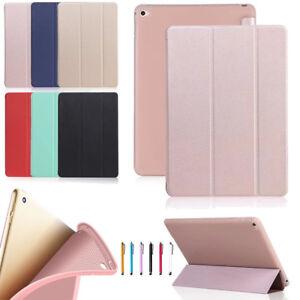 For iPad 2/3/4 5/6th 7/8/9th Air Pro Mini Slim Leather Silicone Case Smart Cover
