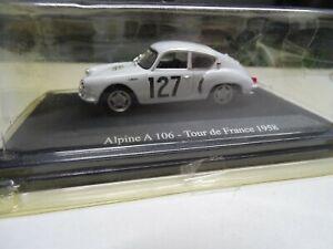 ALPINE A 106 – 7ème TOUR DE FRANCE AUTO / 1958 / NEUVE S/BLISTER /1-43