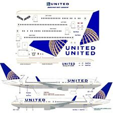 United  Boeing 767-300 airliner Decal 1:144 scale For Revell/Zvezda Kit