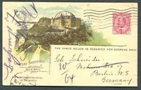 CANADA PICTORIAL RAILWAY POSTCARD CPR B38 CHATEAU FRONTENAC (USED)