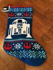 R2-D2 STOCKING knit star wars NEW Disney Christmas NWT force awakens last jedi