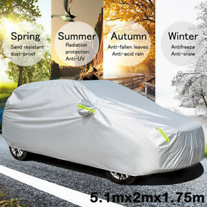 Universal SUV Full Car Cover Outdoor Waterproof Sun Rain Snow UV Protection XL
