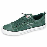 DOCKERS by Gerli 46RD001-790800 Herren Sneaker Washed Canvas Schuhe Grün