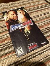 Smackdown Vs Raw 2009 PSP MANUAL ONLY Insert Black Label