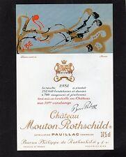 PAUILLAC 1EGCC ETIQUETT CHATEAU MOUTON ROTHSCHILD 1981 37.5 CL DECOREE§06/03/17§