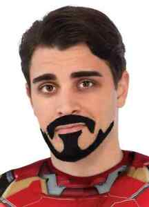 Tony Stark Moustache Marvel Superhero Iron Man Avengers Adult Costume Accessory