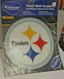 """NFL PITTSBURG STEELERS FATHEAD 14"""" W X 9"""" TALL-NEW IN PACKAGE!"""