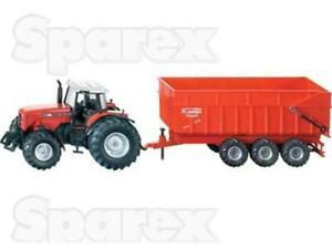 Tractor 1/87 Scale SIKU Massey Ferguson Tractor with Trailer