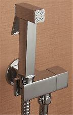 Solid Brass Square Mixer Valve Hand Held shower bidet sprayer Douche Kit set