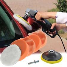 """7pc Auto Car Polish Wax 4"""" Foam Sponge Pad Polisher Buffer Set+Drill Adapter Kit"""