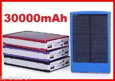Solar Ladegerät mit Akku 30000mAh + 4 Adapter