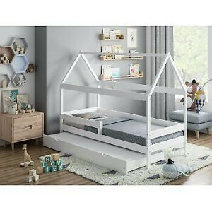 Single bed with canopy Shaped Home on Wheels-Betty
