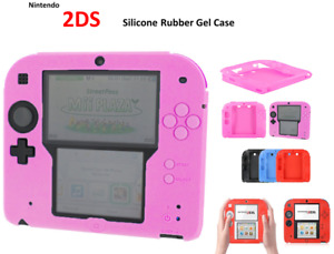 PINK -Silicone Soft RUBBER BUMPER Gel Skin Case Cover For Nintendo 2DS Game