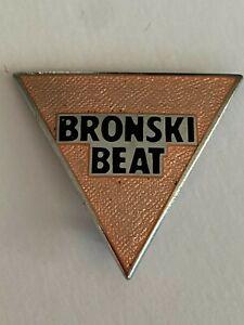 Bronski Beat (Somerville) - Logo - Rare original 1980s pin badge