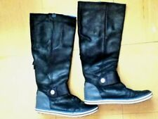 NIKE SUPERB REAL BLACK LEATHER TALL BOOTS...SIZE 6.5 e0355a796