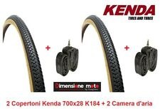 "2 Copertoni KENDA 700x28 K184 Nero/Para + 2 Camera per Bici 28"" Fixed Scatto Fis"