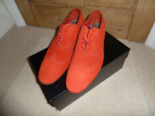 Paul Smith Coral Red  Suede Miller Brogues Shoes - UK 11 - BNIB - RRP £300