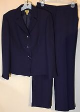 Caslon Womens Pant Suit 6 Petite Purple Lined Career Business Office