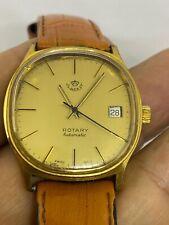 Authentic  ROTARY  Jordan ROYAL CROWN KING HUSSEIN  DIAL Watch GP 34m