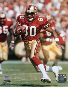 JERRY RICE SAN FRANCISCO 49ERS ACTION  UNSIGNED 8X10 PHOTO Holo Licensed