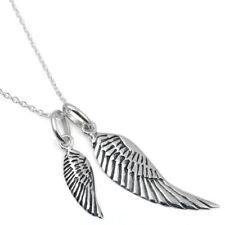 Sterling Silver 925 Wings Necklace Angel Wings Cute Necklace Faith Jewelry N107