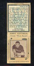 1936-39 Diamond Matchbook Hockey Type 4  Jonny Gottselig  Black Hawks  LOOK !!