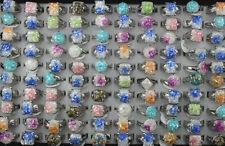 Wholesale Lots 40pcs Mixed Fashion Jewelry Charm Resin Women Lady's Rings Free P