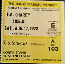 More details for nottingham forest v ipswich town charity shield match ticket 12/8/1978 wembley.