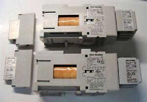 2 ALLEN BRADLEY CONTACTORS SER C 600V 45AMPS 100-C30D*00 & 100-S ser B & 100-F b