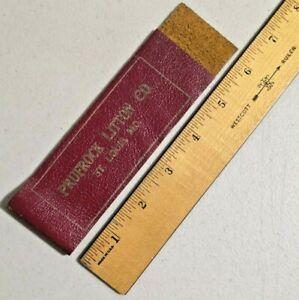 Vintage St Louis Missouri Prufrock Litton Co Leather Sample Rare -- 3600