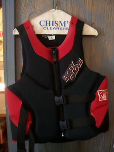 Body Glove Men's Lumbar Comfort Life Vest SIZE L LARGE RED/BLACK USED COND.