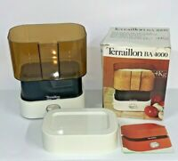 Vintage Terraillon BA 4000 Mechanical Kitchen Scale White 1970s - Works Good !!!