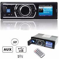 Car Stereo Audio In-Dash FM Aux Input Receiver MP3 WMA USB SD Radio Player Kit E