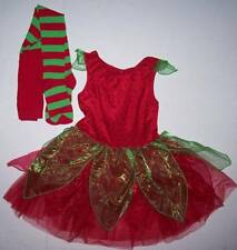 GYMBOREE STRAWBERRY FAIRY COSTUME WITH TIGHTS 7 8 LN EUC HALLOWEEN DRESS UP