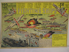 1950's FIGHTING SHIPS GAME 132 PIECE Store Color Sign
