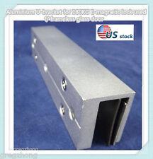 Aluminium U-bracket for 180KG E-magnetic lock used f/ frameless glass door