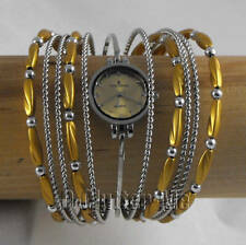 NEW WOMENS LADIES GOLD BANGLE BRACELET FASHION WATCH X1