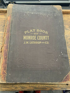 Plat Book of Monroe County, New York 1902 Rochester NY Villages Towns Greece