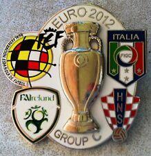 UEFA EURO 2012 PIN. GROUP C. SPAIN, ITALY, CROATIA, IRELAND. LARGE PIN 4cm X 4cm