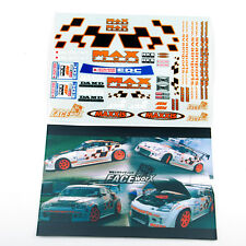 Self Adhesive 1/10 Racing Decal Sticker For 1:10 DRIFT RC Model Body Max Power
