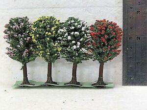 Jordan Nr7E N Scale 6cm FLOWERING TREES X 4 pieces New