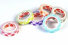 Colourful Decorative Designer Adhesive Paper Washi Tape : 9 mm x 5m : 6 rolls
