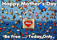 Free, For One Day Only Happy Mother's Day Card chmd74 A5 Personalised Greetings