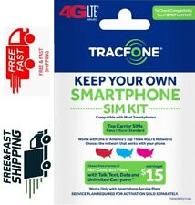 TracFone Bring Your Own Phone SIM Card Kit (AT&T, Verizon & T-Mobile Compatible)